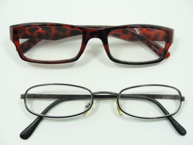 2 pairs of eyeglasses