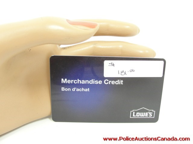 Police Auctions Canada Lowe s Merchandise Credit Gift