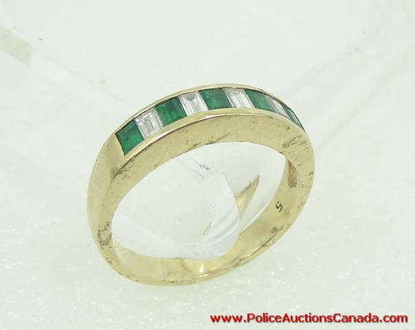 auctions canada 14k yellow gold emerald